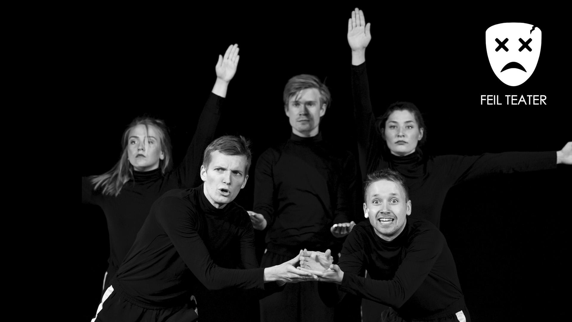 Bilde av 5 skuespillere som poserer