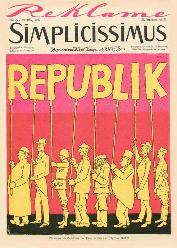 Tegning REPUBLIK av Heine