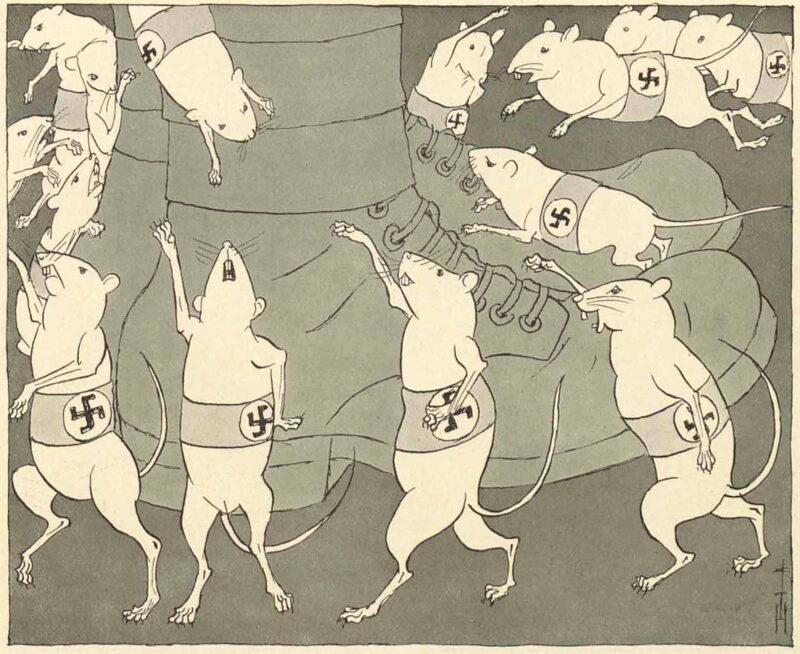 Goebbels mus Tegning av Heine fra 1930
