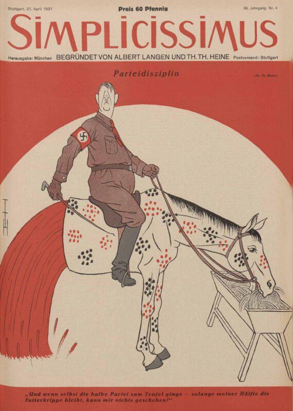 Parti-disiplin Tegning av Heine fra 1931